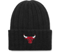 + Nba Chicago Bulls Appliquéd Ribbed Cashmere Beanie