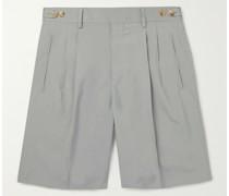 Richard Pleated Silk Shorts