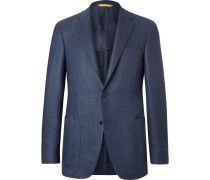 Blue Kei Slim-fit Wool Blazer