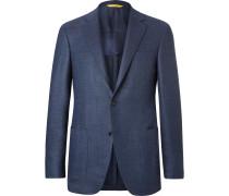 Blue Kei Slim-fit Unstructured Wool Blazer