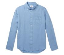 Levon Button-Down Collar Linen Shirt