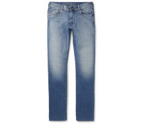 Slim-fit Washed Stretch-denim Jeans