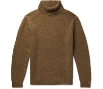 Melangé Wool and Cashmere-Blend Rollneck Sweater
