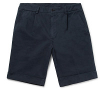 Slim-fit Washed Cotton-twill Chino Shorts