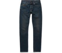Skinny-fit 17cm Hem Distressed Stretch-denim Jeans