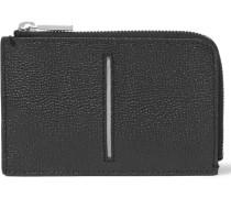 Zip-around Pebble-grain Leather Wallet