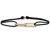 Cord, 14-Karat Gold and Diamond Bracelet
