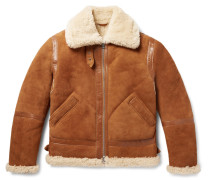 Ian Leather-trimmed Shearling Jacket