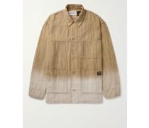 + Paula's Ibiza Dip-Dyed Striped Cotton-Jacquard Chore Jacket