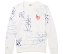Explorer Embroidered Loopback Cotton-jersey Sweatshirt