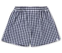 Victor Checked Cotton Boxer Shorts