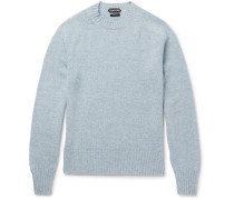 Mélange Cashmere And Linen-blend Sweater