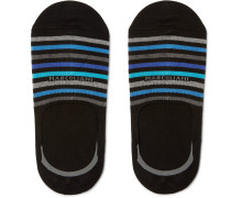 Striped Stretch Pima Cotton-blend No-show Socks