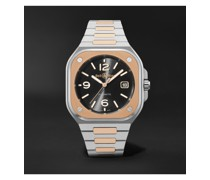 BR 05 Black Steel and Gold Automatic 40mm 18-Karat Rose Gold and Steel Watch, Ref. No. BR05A-BL-STPG/SSG