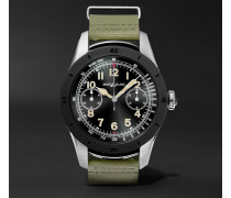 Summit 46mm Two-tone Pvd-coated Stainless Steel And Rubber Smartwatch