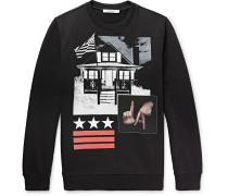 Cuban-fit Printed Fleece-back Cotton-jersey Sweatshirt