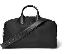 Leather-trimmed Shell Holdall
