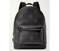 Explorer Signature Logo-Print Canvas and Leather Backpack