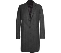 Slim-fit Prince Of Wales Checked Wool-blend Coat