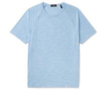 Dustyn Slim-fit Slub Cotton-blend T-shirt