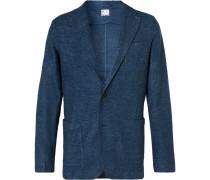 Blue Alfonso Mélange Linen Blazer - Blue
