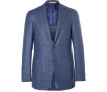 Blue Kei Slim-fit Super 120s Wool-bouclé Blazer