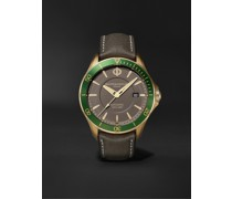 Clifton Club Automatic 42mm Bronze and Leather Watch, Ref. No. M0A10565