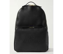 Valentino Garavani Logo-Debossed Leather Backpack