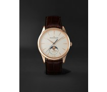 Master Ultra Thin Automatic Moon-Phase 39mm 18-Karat Pink Gold and Alligator Watch, Ref. No. 1362510