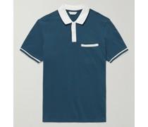 Slim-Fit Contrast-Tipped Stretch Cotton-Piqué Polo Shirt