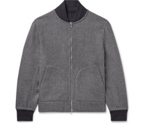 Reversible Cashmere and Silk-Blend Bomber Jacket