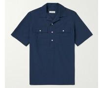 Galen Camp-Collar Cotton-Poplin Shirt