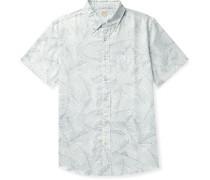 Playa Button-Down Collar Printed Cotton Shirt