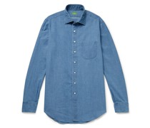 Textured Cotton-Chambray Shirt