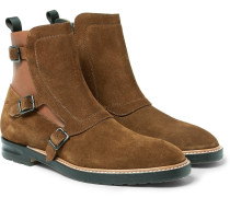 Suede And Leather Chelsea Boots