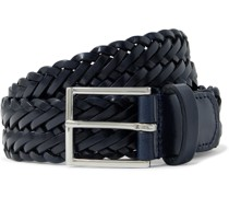 3cm Woven Leather Belt