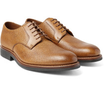Liam Pebble-grain Leather Derby Shoes