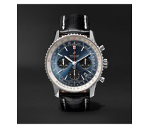 Navitimer 1 B01 Automatic Chronograph 43mm Stainless Steel and Alligator Watch, Ref. No. AB0121211C1P1
