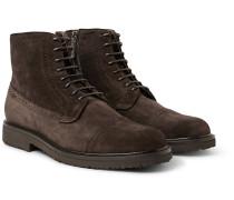 Suede Brogue Boots