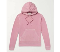 Olivier Garment-Dyed Loopback Cotton-Jersey Hoodie