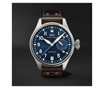 Big Pilot's Le Petit Prince Automatic 46mm Stainless Steel and Leather Watch, Ref. No. IW501002