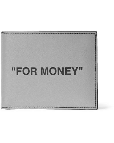 Printed Reflective Leather Billfold Wallet