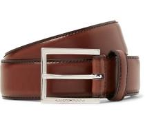 3.5cm Canzino Brown Leather Belt