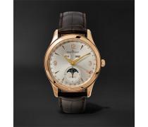 Master Calendar Automatic 39mm 18-Karat Rose Gold and Alligator Watch, Ref. No. Q1552520