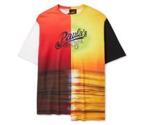 + Paula's Ibiza Printed Waffle-Knit Cotton T-Shirt