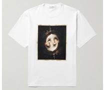 Queen Printed Cotton-Jersey T-Shirt