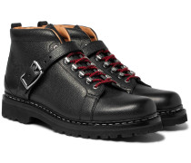 Richmond Pebble-grain Leather Hiking Boots
