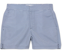 Mid-Length Printed Swim Shorts