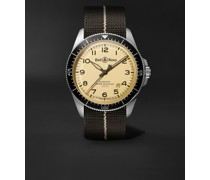 BR V2-92 Limited Edition Military Beige Automatic 41mm Stainless Steel and Canvas Watch, Ref. No.  BRV292-BEI-ST/SF