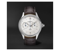 Heritage Monopusher Automatic Chronograph 42mm Stainless Steel and Alligator Watch, Ref. No. 119951